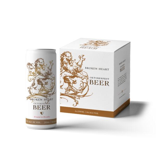 Broken Heart Oktoberfest Beer 4x250ml cans